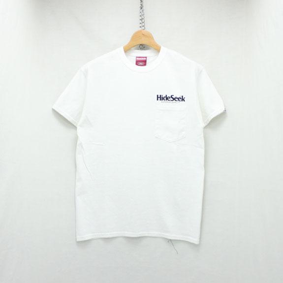 HIDE&SEEK HIDESEEK Pocket S/S Tee (17ss):WHITE