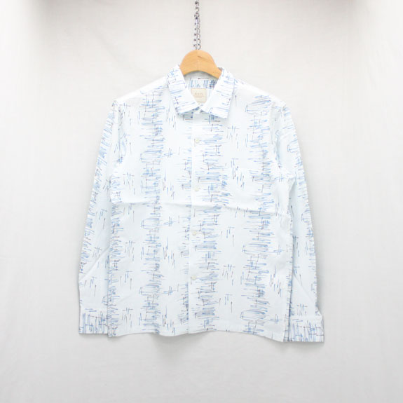 RATS ATOMIC PATTERN L/S SHIRT:WHITE