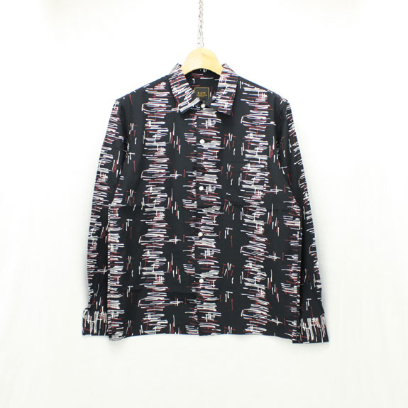 RATS ATOMIC PATTERN L/S SHIRT:BLACK