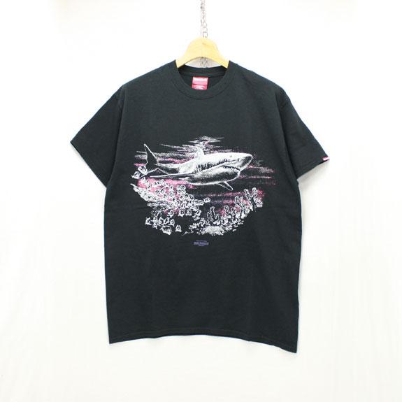 HIDE&SEEK Shark S/S Tee:BLACK