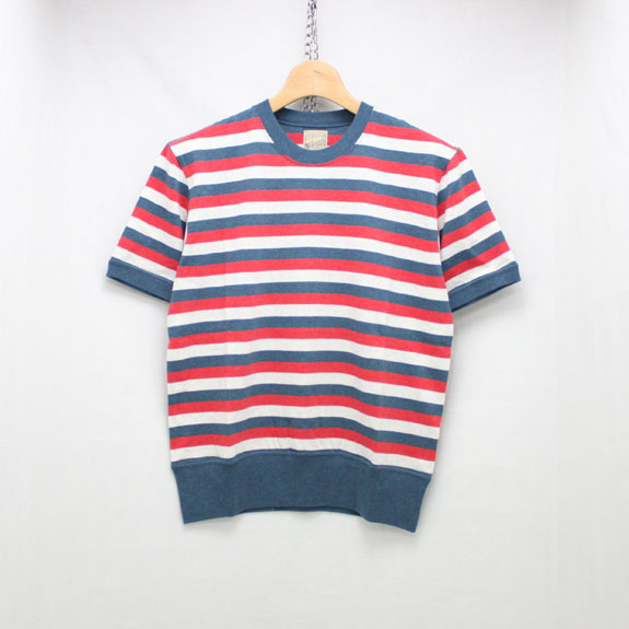 BELAFONTE RAGTIME STRIPE PLAY T SHIRTS:BLUE×WHITE×RED