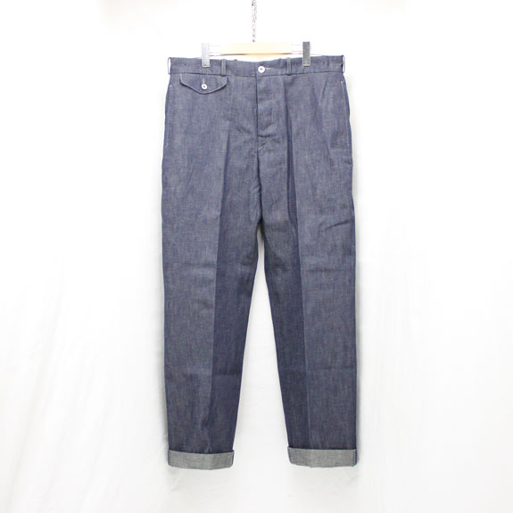 BELAFONTE RAGTIME DENIM TROUSERS with CINCH BACK:10.5oz INDIGO