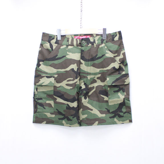 HIDE&SEEK Fatigue 6P Shorts (17ss-CAMO):WOODLAND CAMO