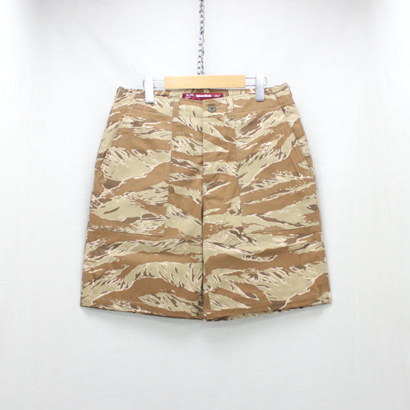 HIDE&SEEK Fatigue Shorts (17ss):SAND TIGER CAMO