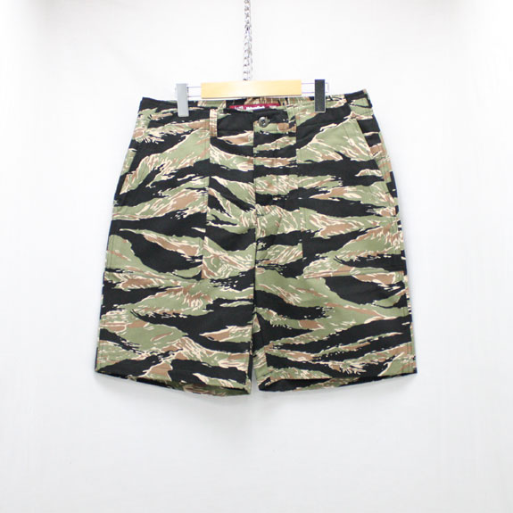 HIDE&SEEK Fatigue Shorts (17ss):TIGER CAMO