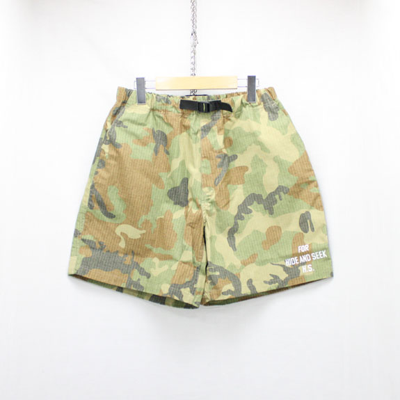 HIDE&SEEK Easy Shorts (17ss):WOODLAND CAMO