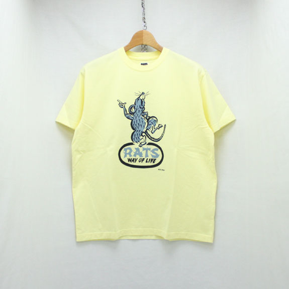 RATS DANCING RAT T-SHIRT:YELLOW