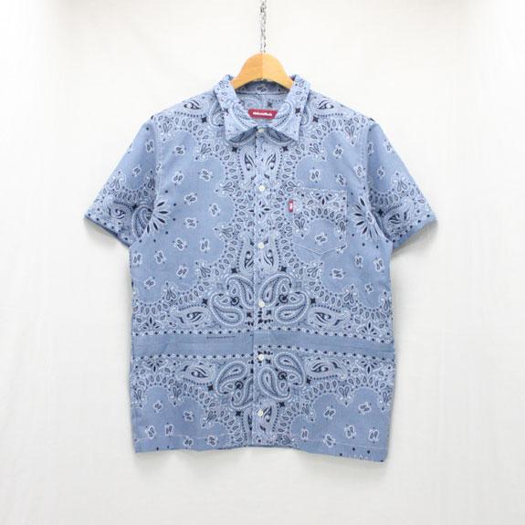 HIDE&SEEK Banndana S/S Shirts (17ss):CHAMBRAY