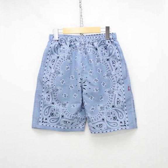 HIDE&SEEK Banndana Shorts (17ss):CHAMBRAY