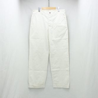 BELAFONTE RAGTIME CHINO CLOTH TROUSERS (AGED):OFF WHITE
