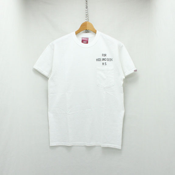 HIDE&SEEK Bear&Eagle Pocket S/S Tee:WHITE