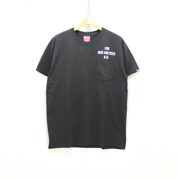 HIDE&SEEK Bear&Eagle Pocket S/S Tee:BLACK