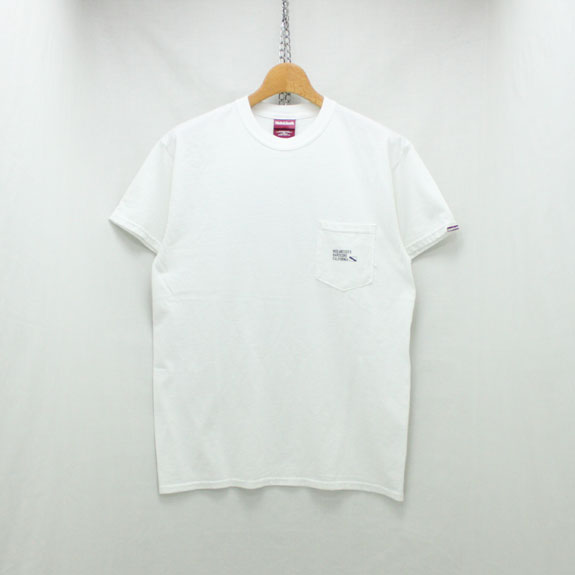 HIDE&SEEK Label Pocket S/S Tee:WHITE