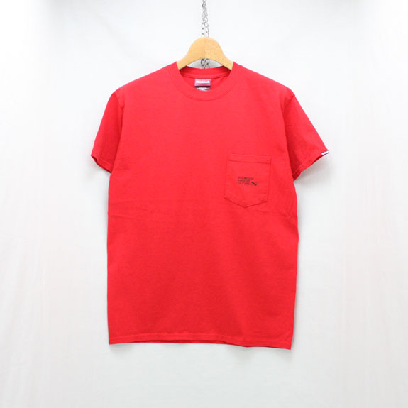 HIDE&SEEK Label Pocket S/S Tee:RED