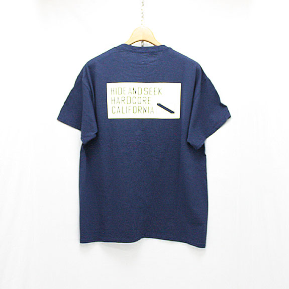 HIDE&SEEK Label Pocket S/S Tee:NAVY