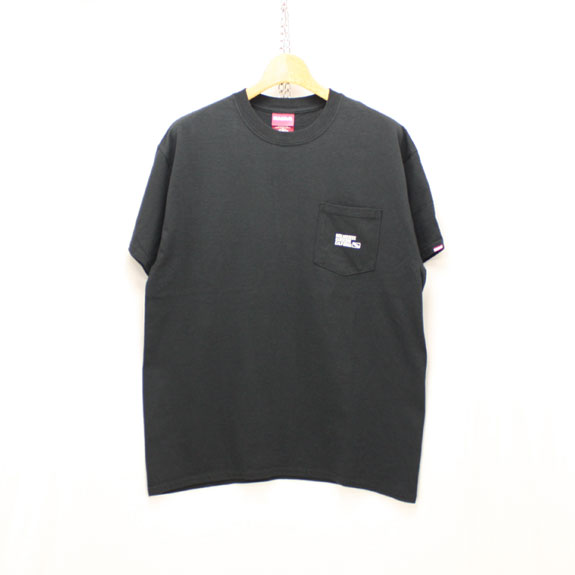 HIDE&SEEK Label Pocket S/S Tee:BLACK