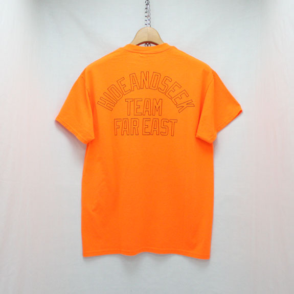 HIDE&SEEK TEAM FAR EAST S/S Tee:ORANGE