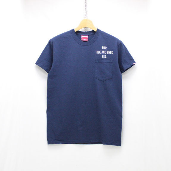 HIDE&SEEK Dragon Pocket S/S Tee:NAVY