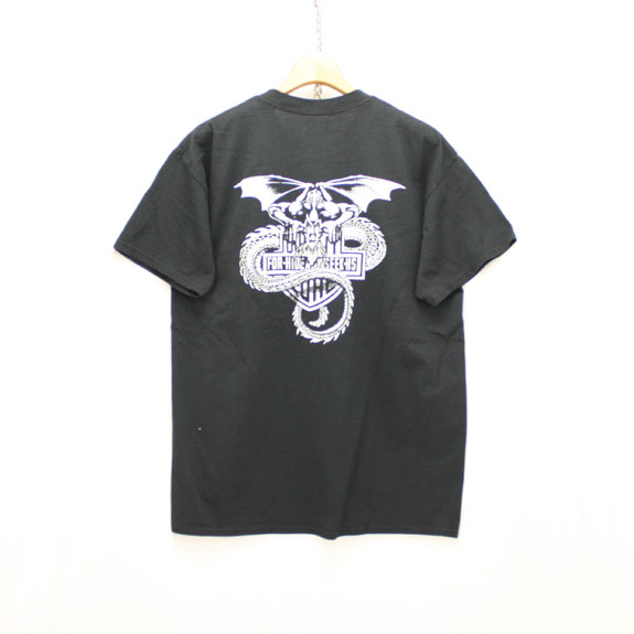HIDE&SEEK Dragon Pocket S/S Tee:BLACK
