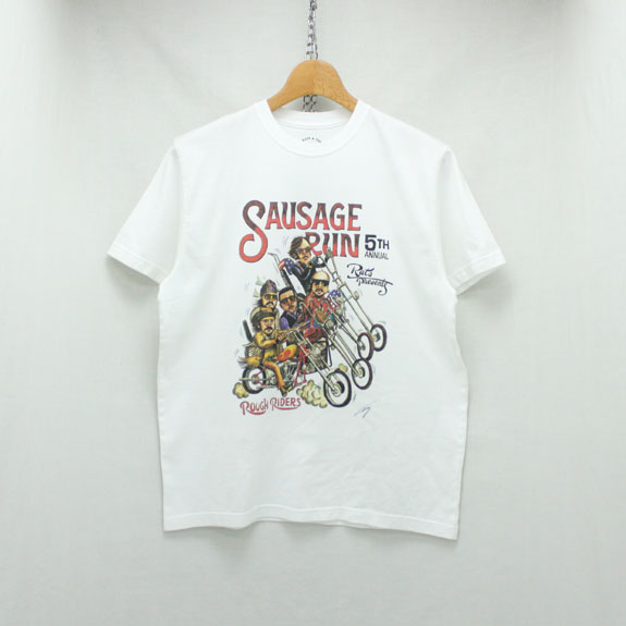 RATS SAUSAGE RUN 5TH T-SHIRT:WHITE