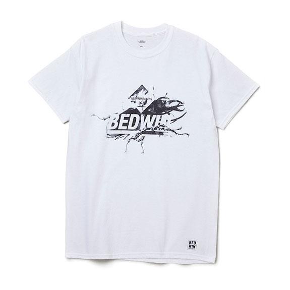BEDWIN S/S PRINT TEE [ DEL ]:WHITE
