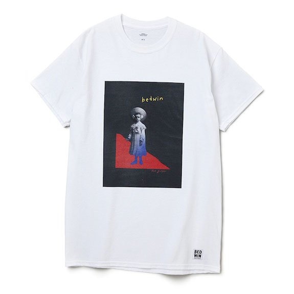 BEDWIN S/S PRINT TEE WOODGATE:WHITE