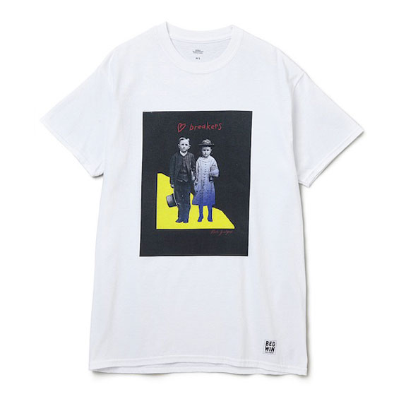 BEDWIN S/S PRINT TEE COMMERFORD:WHITE