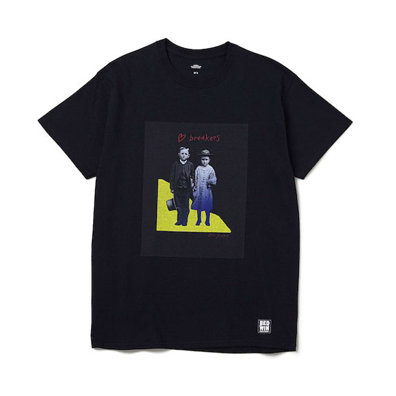 BEDWIN S/S PRINT TEE COMMERFORD:BLACK