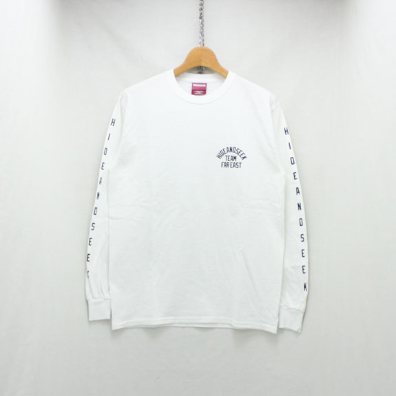 HIDE&SEEK TEAM FAR EAST L/S Tee:WHITE
