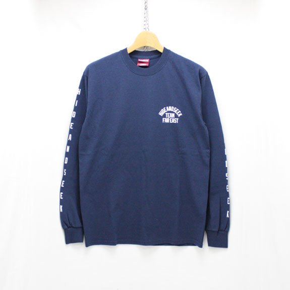 HIDE&SEEK TEAM FAR EAST L/S Tee:NAVY