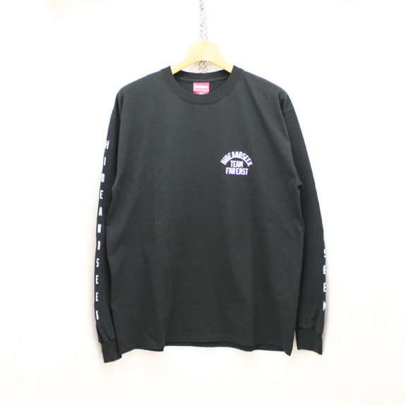 HIDE&SEEK TEAM FAR EAST L/S Tee:BLACK