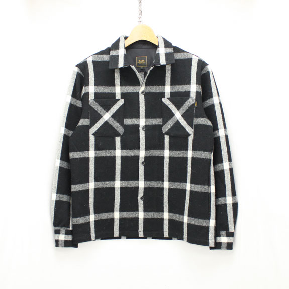 RATS WOOL WINDPEN SHIRT:BLACK×WHITE