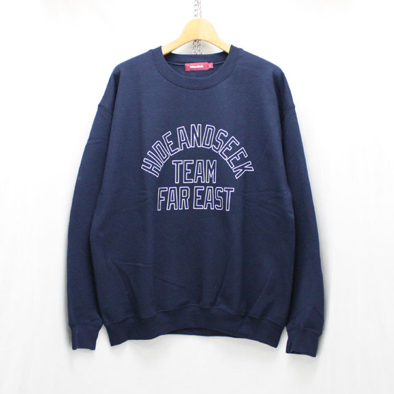 HIDE&SEEK TEAM FAR EAST Sweat Shirts:NAVY