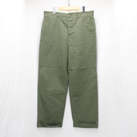 BELAFONTE RAGTIME CHINO CLOTH TROUSERS (AGED) ARMY GREEN