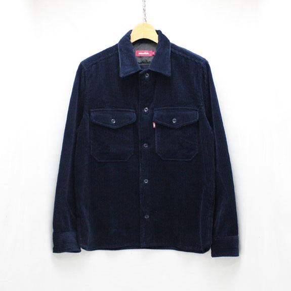 HIDE&SEEK Cord CPO Shirts NAVY