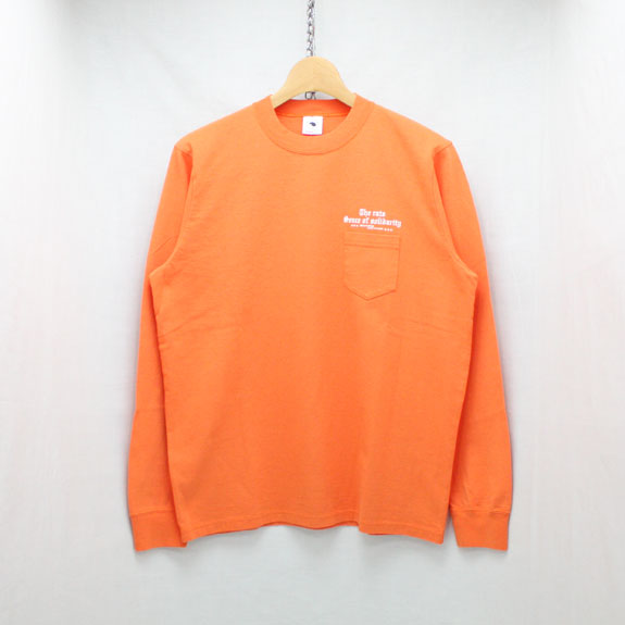 RATS PRINT L/S OLD ENGLISH:ORANGE