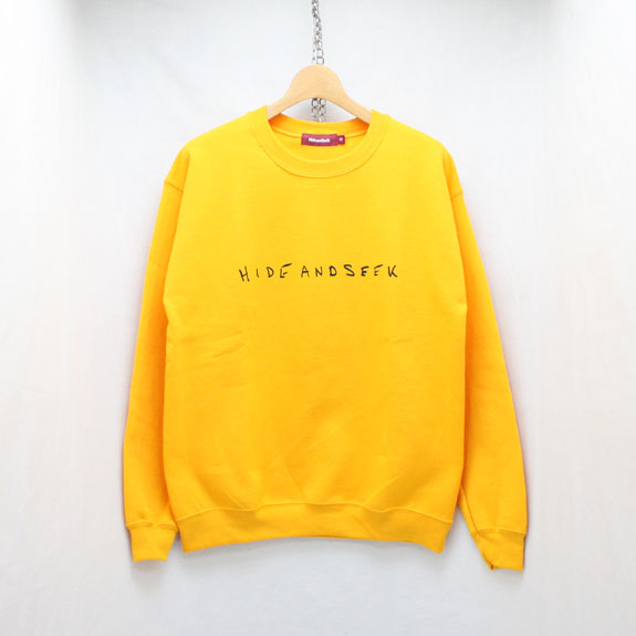 HIDE&SEEK LOVE&PAIN Sweat Shirt:YELLOW