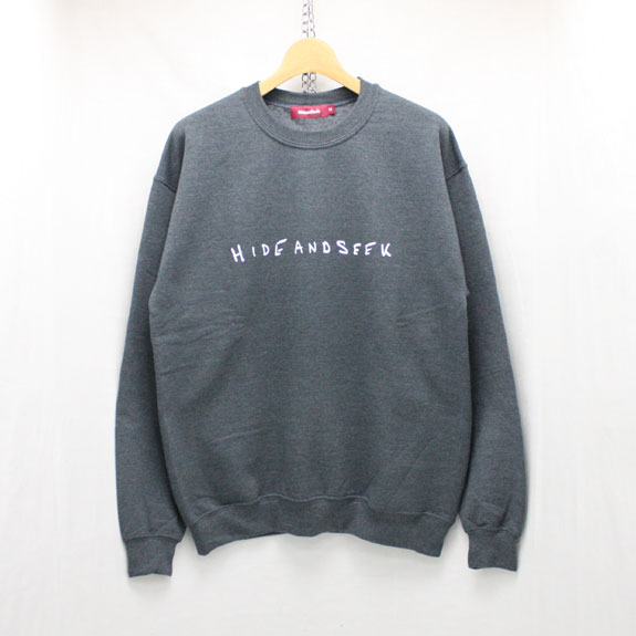 HIDE&SEEK LOVE&PAIN Sweat Shirt:D-GRAY