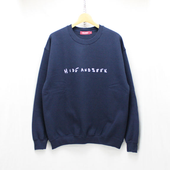 HIDE&SEEK LOVE&PAIN Sweat Shirt:NAVY