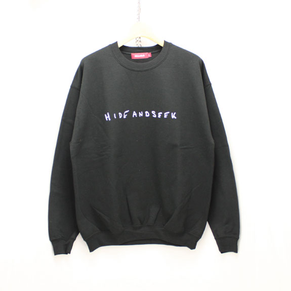 HIDE&SEEK LOVE&PAIN Sweat Shirt:BLACK