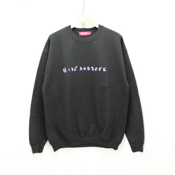 HIDE&SEEK LOVE&PAIN Sweat Shirt:BLACK
