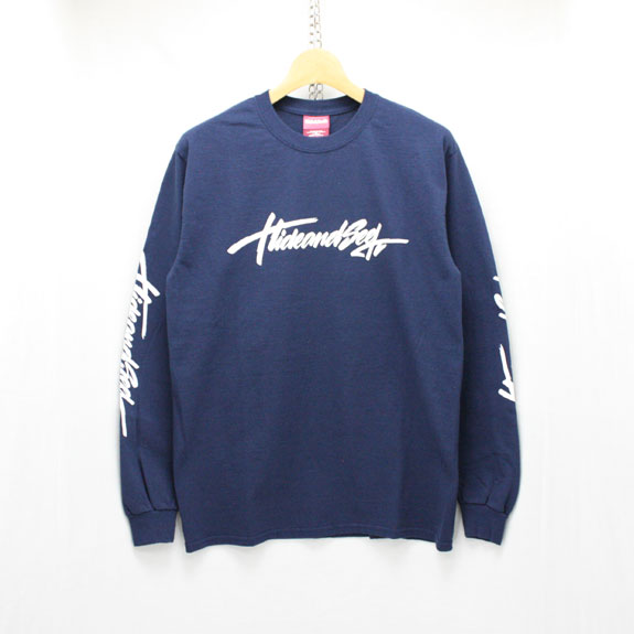 HIDE&SEEK Brush L/S Tee:NAVY