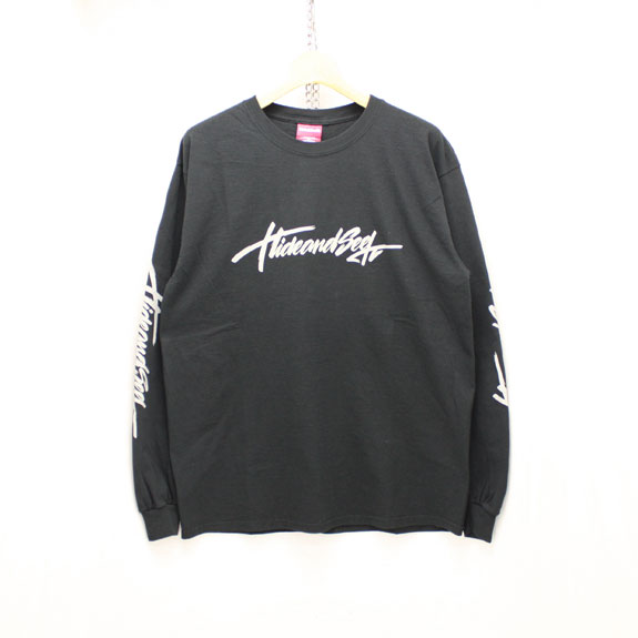 HIDE&SEEK Brush L/S Tee:BLACK