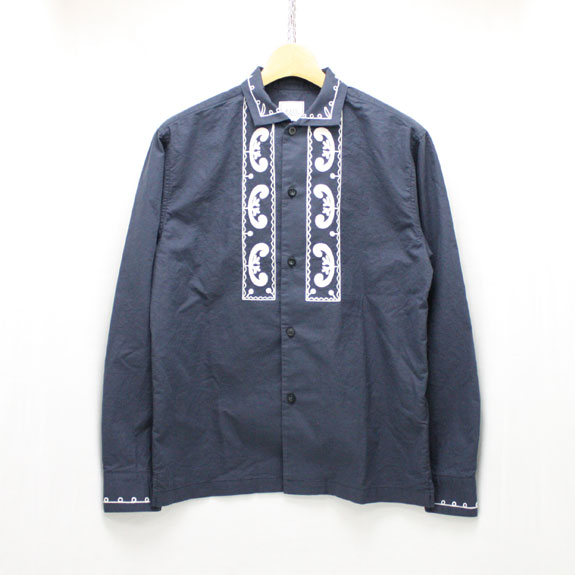 RATS EMBROIDERY SHIRT:NAVY