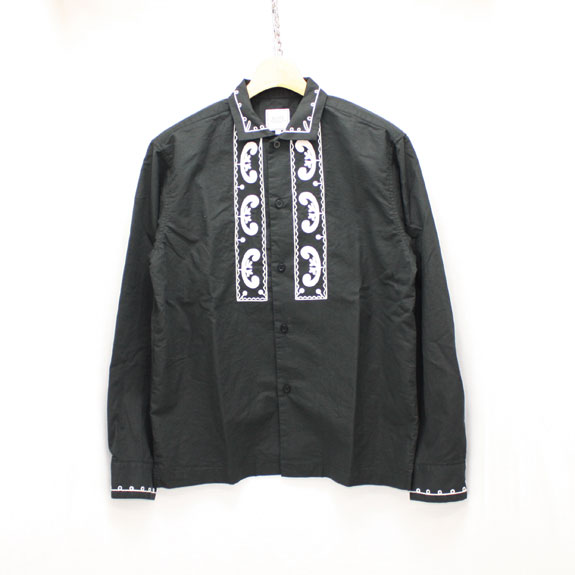 RATS EMBROIDERY SHIRT:BLACK