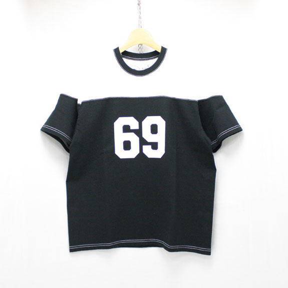RATS FOOT BALL 69 T-SHIRT:BLACK×WHITE