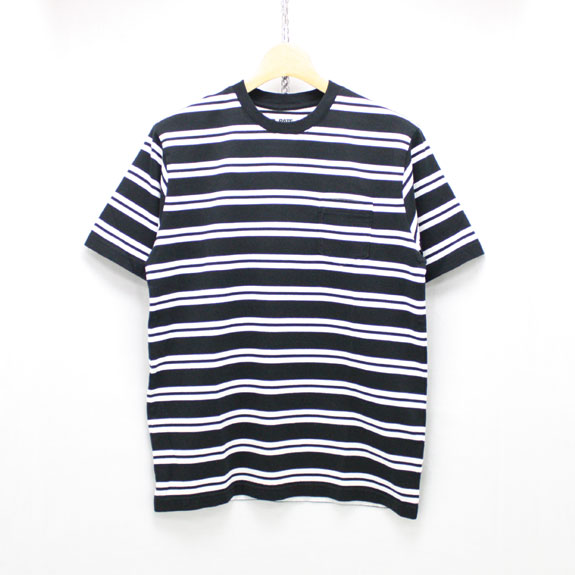 RATS BORDER POCKET T-SHIRT:BLACK
