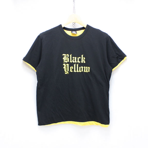 RATS B&Y REVERSIBLE T-SHIRT:BLACK×YELLOW