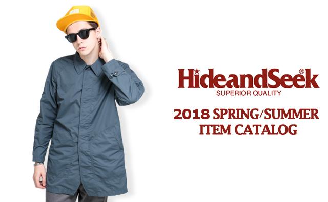 HIDE&SEEK2018年春夏コレクションコーディネート lookbook カタログ