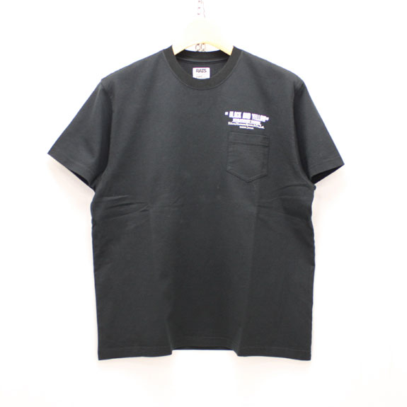 RATS CHECKER T-SHIRT:BLACK
